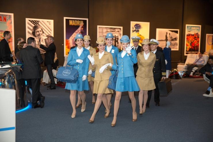flight attendants take board // Kevin Seng