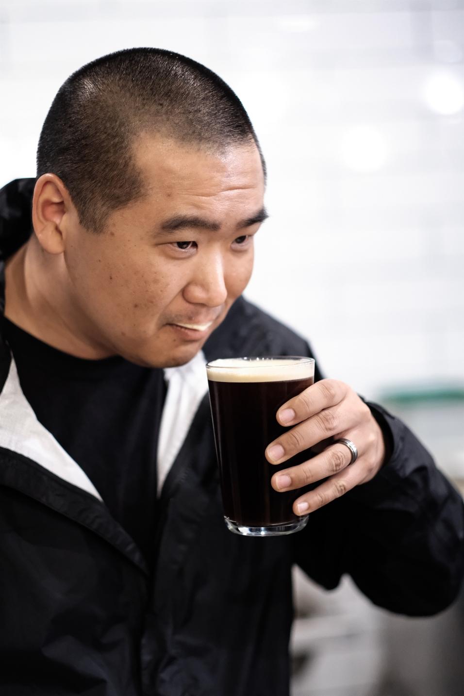 Dan with a cold brew stache